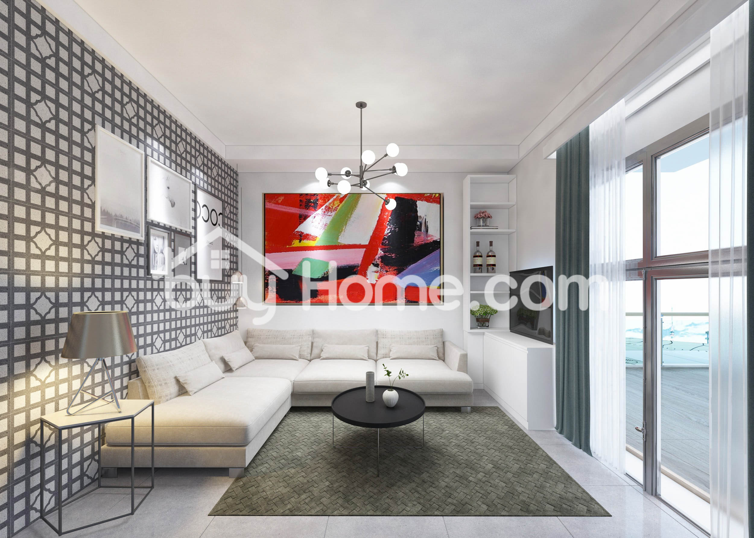 Contemporary 3 BDR Apartment | BuyHome