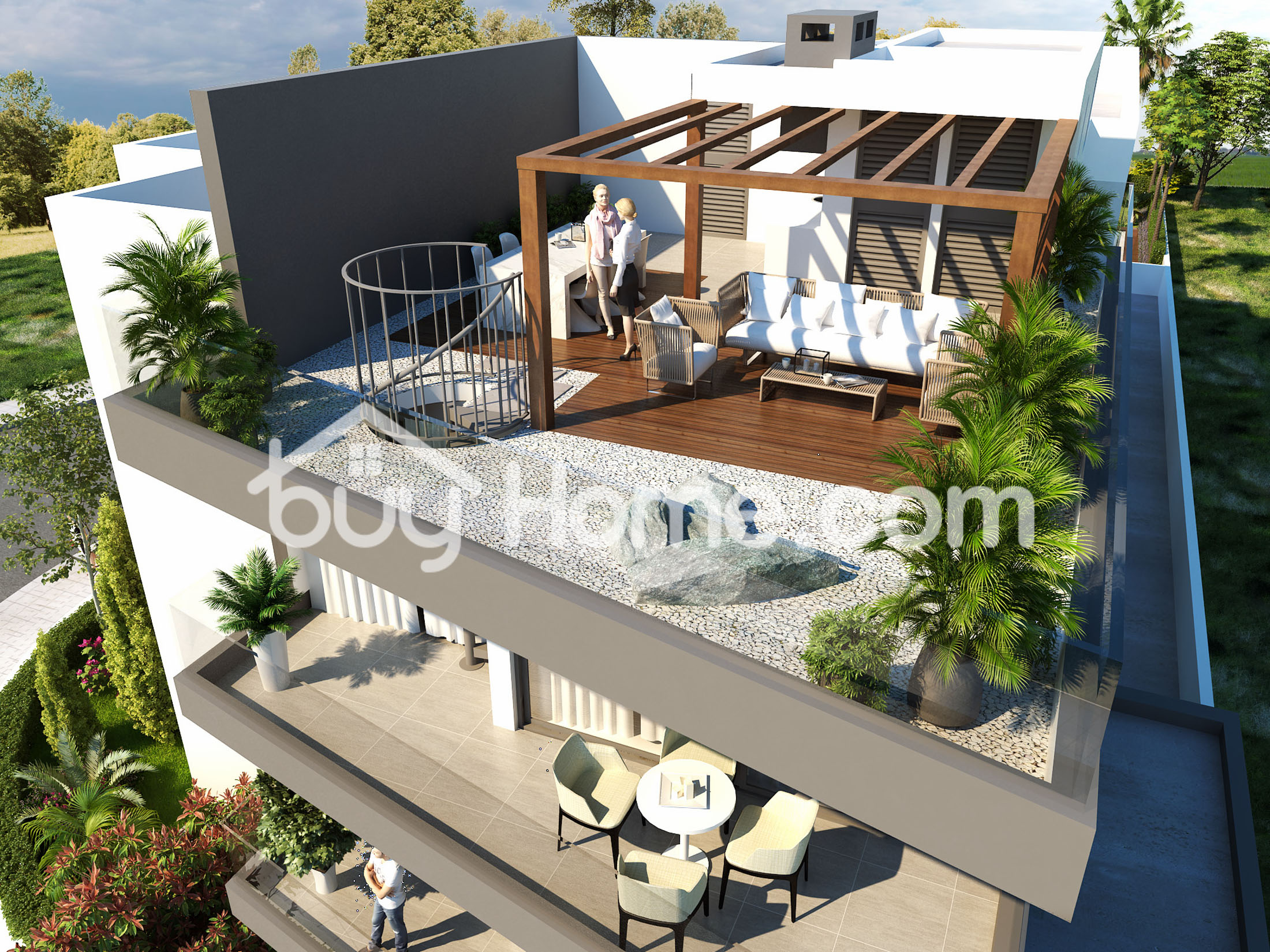 3 Bed Penthouse With Roof Garden | BuyHome